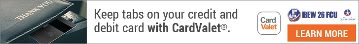 Keep tabs on your credit and debit card with CardValet - learn more